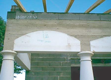 Coffrage polystyr ne sh ma pour coffrage de cintres - Pose corniche polystyrene ...